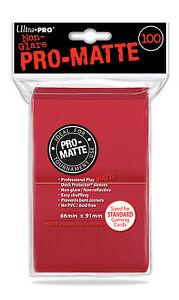 ULTRA PRO Card Sleeves *PRO-MATTE GREEN* DECK PROTECTORS MTG 12 Pack Box 600