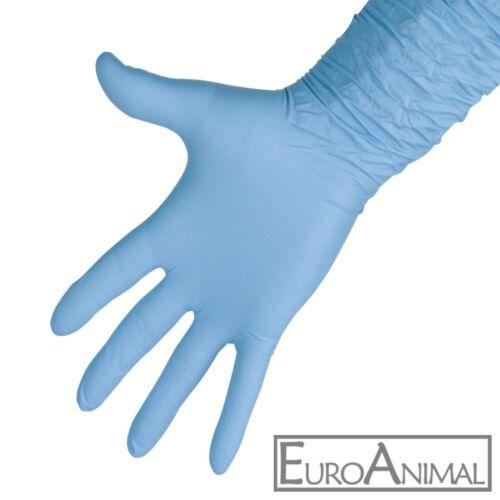 50 Stück Melkhandschuhe 30cm lang Nitril Handschuhe Einweghandschuhe puderfrei