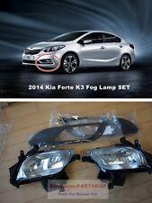 For 2013 ~ 2015 KIA Forte K3 Sedan fog lamp light & cover & wire 1set Genuine