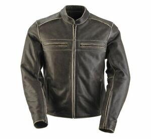 Black Brand Women's Vintage Rebel Brown Leather Motorcycle Jacket