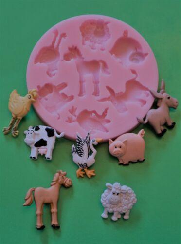 Bauernhof Tiere Silikonform Für Kuchendekoration Choc Ton Usw