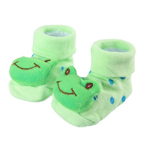 Cute Baby Kid Toddler Newborn 3D Frog Short Sock Slipper Shoe Children Bootie