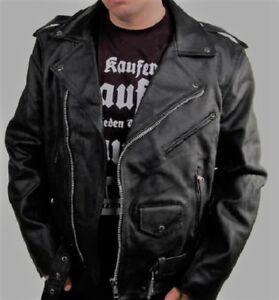 taglia in Vera Giacca Rocker da motociclista Chopper L Punk bovina pelle pelle qIxSw7nxAd