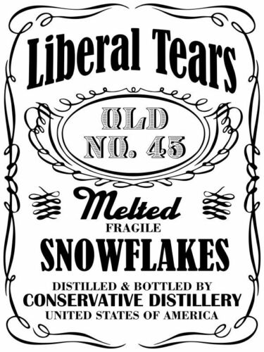 Donald Trump Liberal Tears Snowflake Window Decal Various Sizes