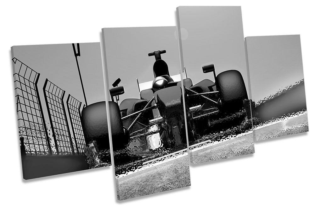 Coche De Carreras Fast De Fast Carreras F1 Blanco y Negro foto impresión de múltiples LONA pared arte 1fefbf