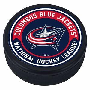 Columbus-Blue-Jackets-3D-Textured-Striped-NHL-Souvenir-Hockey-Puck