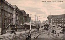 Liverpool,U.K.William Brown Street,Trolley Car,Merseyside,c.1909