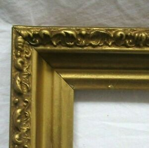ANTIQUE-FITS-11-034-X-15-034-GOLD-GILT-ORNATE-WOOD-FRAME-FINE-ART-VICTORIAN