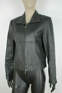CAPPOTTO-YOORS-PELLE-LEATHER-Giubbotto-Jacket-Giacca-Tg-M-Donna-Woman-C