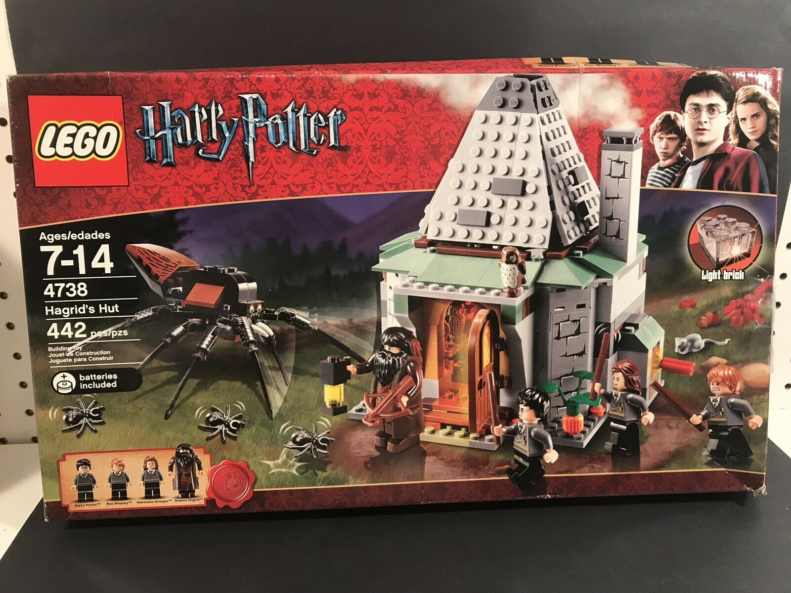 2010 LEGO HARRY POTTER HAGRID'S HUT LEGO SET 4738 WITH BOX VERY RARE RETIrot
