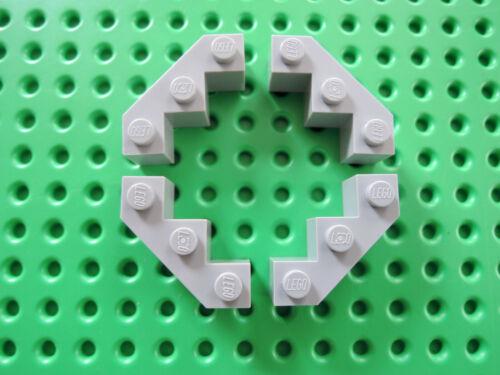 LEGO 4 X PIETRA Eckstein parapetto FACET 2462 NUOVO GRIGIO CHIARO 3x3 10188 8129 8780