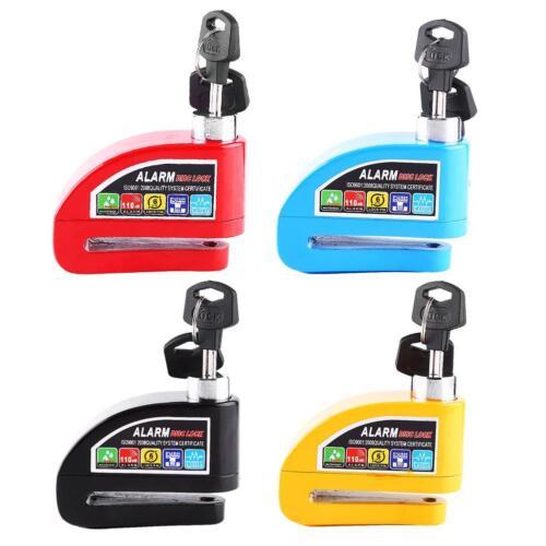 Motorcycle Scooter Bicycle Anti-theft Wheel Disc Brake Lock Security Alarm & Key