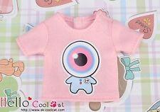 ☆╮Cool Cat╭☆【PR-27N】Blythe Pullip Doll Print Tee(Eyeball Baby)# Pink