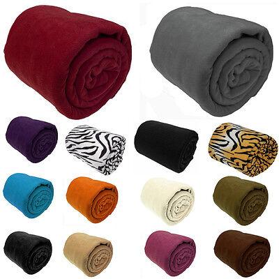 Luxury Warm Soft Large Polar Fleece Throw Blanket Sofa Bed Travel Throwover