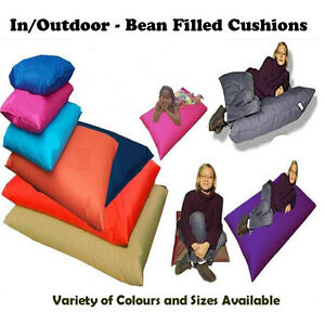 In/Outdoor Floor Cushion / Beanbag - Kid & Adults - FILLED - WORLDWIDE FROM UK