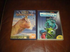 LOT-2-DVD-DISNEY-LOSANGES-JAUNES-N-58-DINOSAURE-N-64-MONSTRES-ET-COMPAGNIE