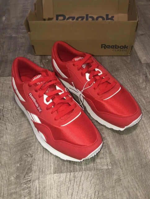 Reebok Unisex Red Classic Nylon Running Sneakers Shoes Size 7.5 NWT