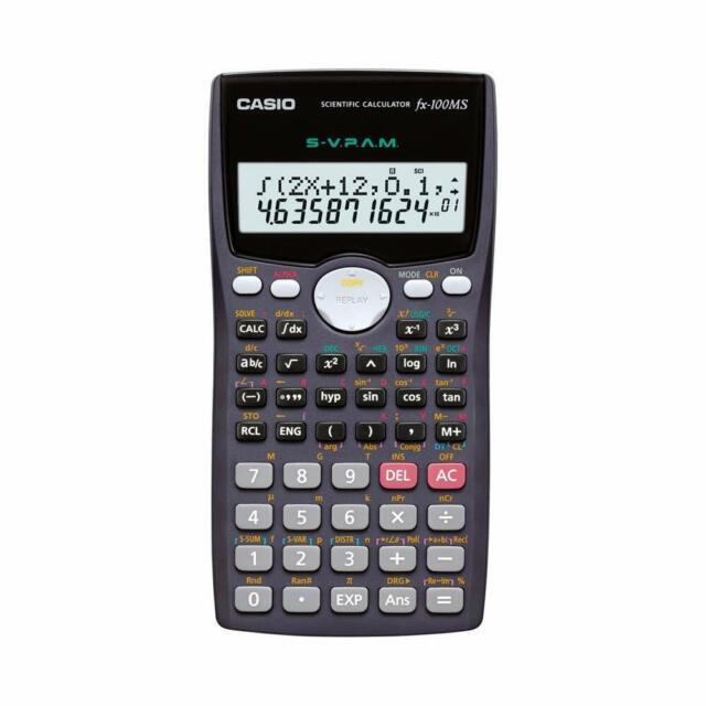 Casio FX-100MS Non-Programmable Scientific Calculator, 300 Functions -Free Ship