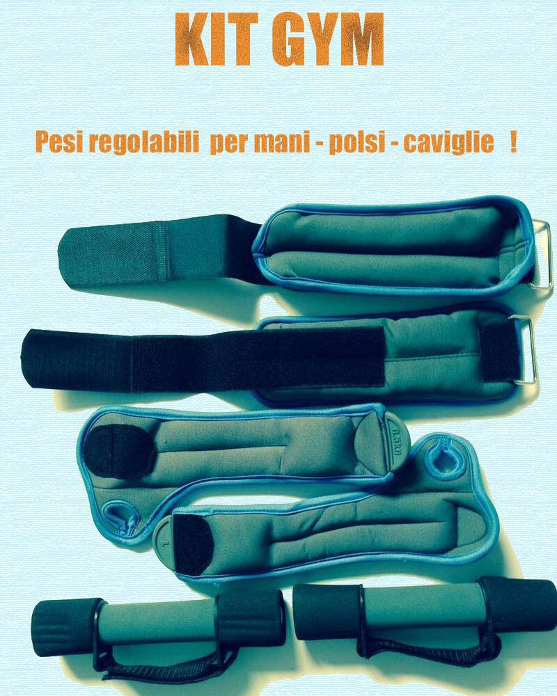 Polsiera Peso Cavigliera KIT COMPLETO REGALO + MANUBRI  Zavorra Peso Polsiera 0,5kg  THE BEST 562dc6