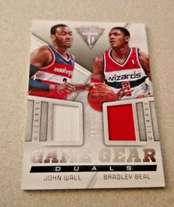 newest 1360e 02a20 Details about 2013-14 Panini Titanium Game Gear Duals #38 John Wall Bradley  Beal Wizards /155