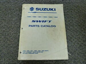 1989 suzuki swift hatchback parts catalog manual glx gti 1 3l ebay rh ebay ca suzuki swift gti parts catalog Suzuki Swift Sport