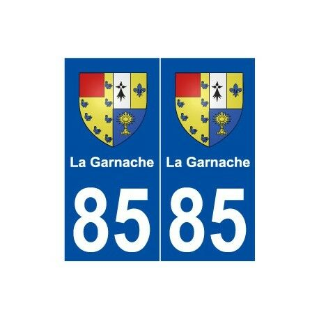 85 La Garnache blason autocollant plaque stickers ville -  Angles : droits