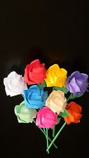 ROSES ROSE origami paper rose handmade 1 stem folded roses you pick the color