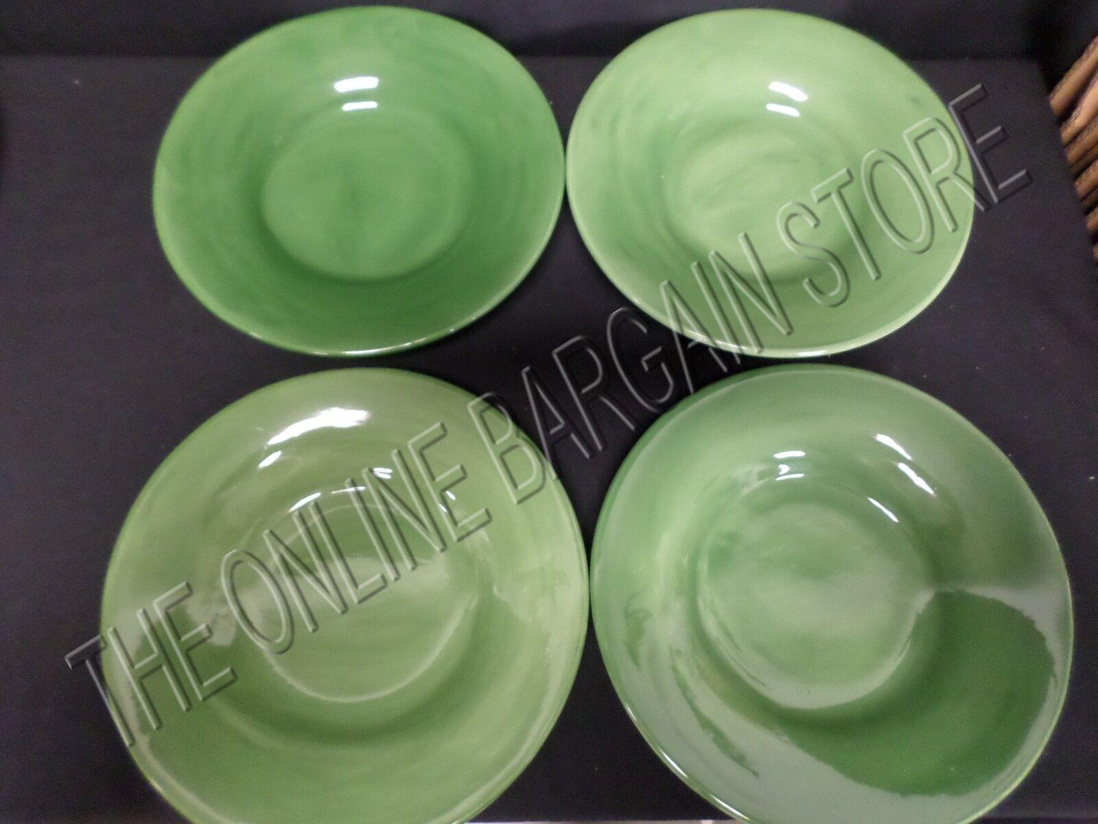 4 Pottery Barn Sausalito cuisine salle à manger la soupe saladiers vert olive émaillé 10