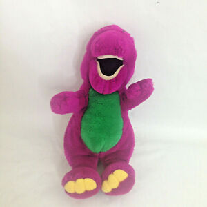 Vintage Dakin Barney Backyard Gang Purple Dinosaur Stuffed ...