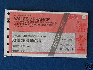 Rugby Union International Ticket  Wales v France  25996 - Dawlish, Devon, United Kingdom - Rugby Union International Ticket  Wales v France  25996 - Dawlish, Devon, United Kingdom