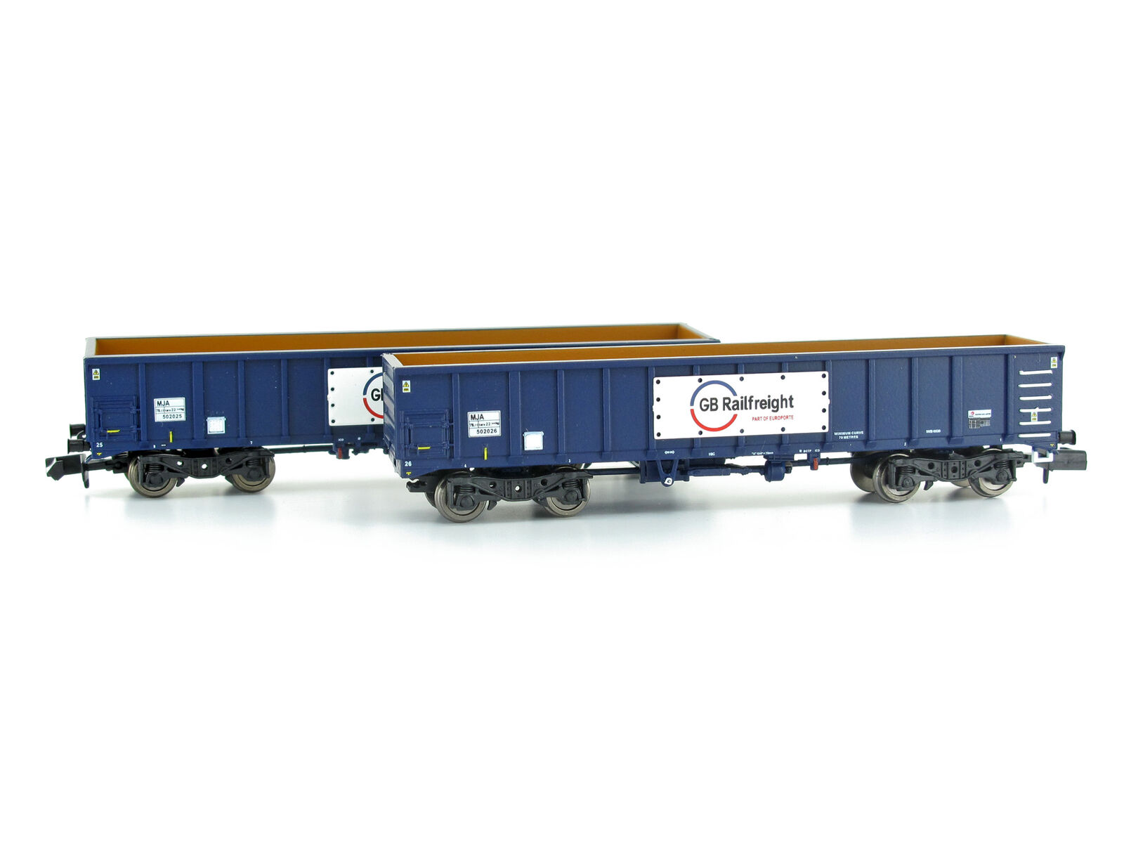 Dapol 2f-025-006 - goods Wagenset MJA BOGIE BOX VAN GB Railfreight 2 Pieces-NEW