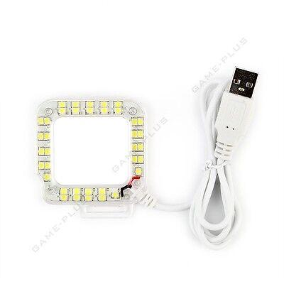 External USB Lens Ring LED Flash Light Shooting For GoPro Hero 3+ Hero 4 Camera