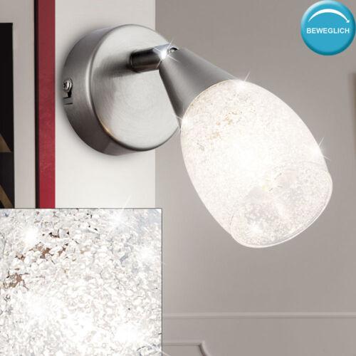 Luxus Wand Lampe Glas Kristall Wohn Ess Zimmer Strahler Spot Leuchte schwenkbar
