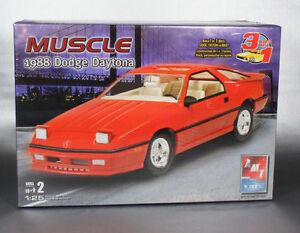1998-AMT-ERTL-2009-Discontinued-38425-1-25-1988-Dodge-Daytona-3-in-1-new-inbox