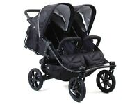 Valco 2016 Trimode Twin-x Duo Double Stroller In Midnight (black) Brand
