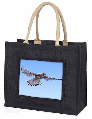 fliegend Kestrel Raubvogel große schwarze Einkaufstasche Weihnachtsgeschenk,