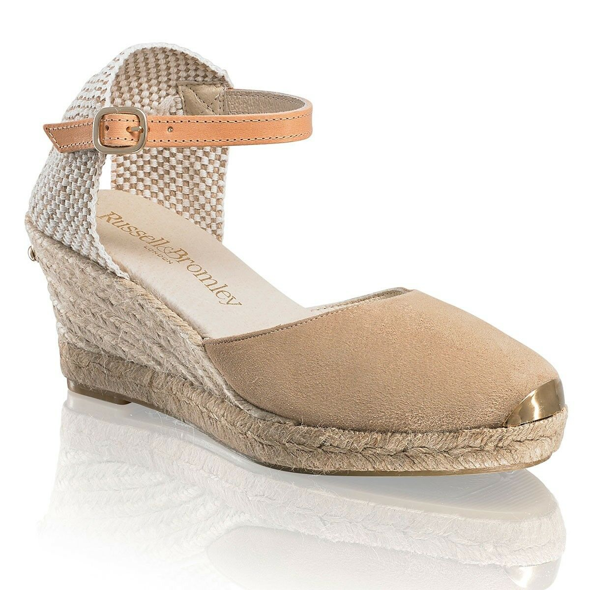 Russell Russell Russell and Bromley COCO NUT Ankle Strap Espadrille US 6 EU37 UK 4 BNWT Wedges a25fc5