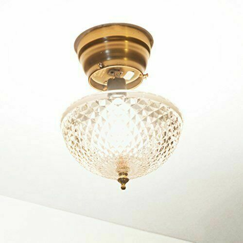 Diamond Cut Acrylic Dome Light Shade