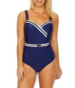 Panache-NAVY-IVORY-Portofino-Underwire-One-Piece-Swimsuit-US-38D