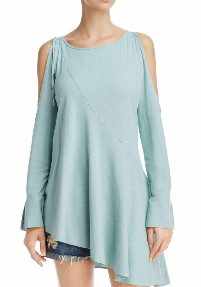 NWT Free People Clear Skies Asymmetric Cold Shoulders Tunic Size S