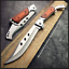 SKINNER-Hunting-Fixed-Blade-Knife-Combat-Bowie-Camping-Survival-Pocket-Knife thumbnail 5