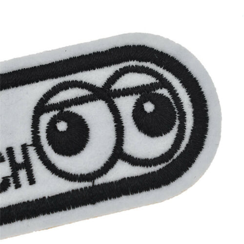 DIY Iron on LOOK BUT DON/'T TOUCH Patch Warning Words Badge Handcrafts Sewing