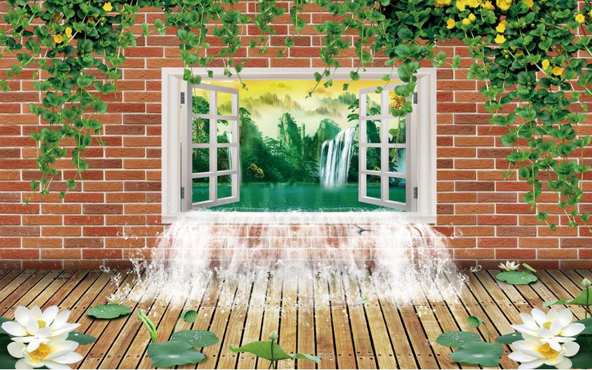 3D Waterfall 4120 Wallpaper Murals Wall Print Wallpaper Mural AJ WALL UK Carly