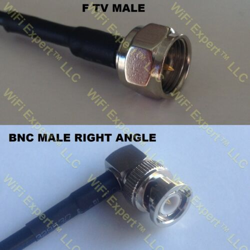 USA-CA RG316 DS F MALE to BNC MALE ANGLE Coaxial RF Pigtail Cable