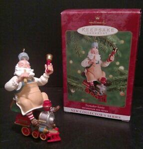 Hallmark-Keepsake-Ornament-2000-Toymaker-Santa-Ken-Crow-Christmas-Train-T14