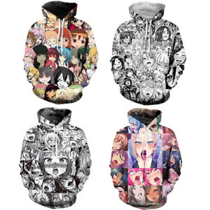 Mens-Adult-Ahegao-Emoji-Face-Anime-3D-Print-Hoodie-Pullover-Hooded-Jacket-Jumper
