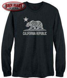 California republic bear long sleeve shirt cali state los for Los angeles california shirt