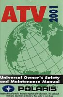 Polaris Atv 2001 Owner's Safety And Maintenance Manual