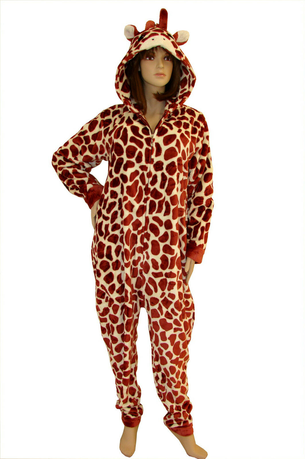 SEXY Pigiama GIRAFFA Tuta intera women Ragazza casa costume  ANIMALI brown
