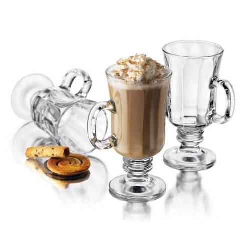 environ 233.88 g Libbey Milan 8.25 OZ Verre Transparent Irish coffee Mug ensemble 4 pièces-New in Box